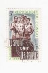 Stamps Africa - Republic of the Congo -  Le sport Unit Les peuples (repetido)
