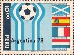 Stamps Peru -  Mundial de Fútbol Argentina '78. Escocia-España-Francia-Holanda.