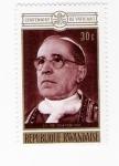 Stamps Africa - Rwanda -  Pio XII (repetido)
