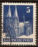 Sellos del Mundo : Europa : Alemania : Catedral de Colonia.Zona de Ocupación estadounidenses, británicos.