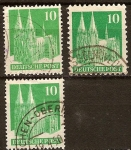 Sellos de Europa - Alemania -  Ocupación aliada de 1948-Edificios(Catedral de Colonia)