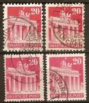 Sellos del Mundo : Europa : Alemania : Ocupación aliada de 1948-Edificios(puerta de Brandemburgo)