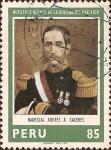 Sellos de America - Perú -  Nuestros Héroes de la Guerra del Pacífico: Mariscal Andrés A. Cáceres.