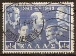 Sellos del Mundo : Europa : Grecia : Reyes:Alejandro I,Constantino,Jorge y Pablo I.