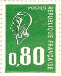 Stamps France -  Verde