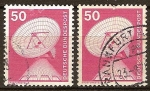 Sellos de Europa - Alemania -  Industria y tecnicas (Antena parabólica-estación terrena).