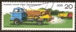 Sellos del Mundo : Europa : Alemania : Tecnologia moderna en la agricultura- Abonadoras en camiones (DDR)