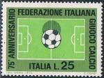 Sellos de Europa - Italia -  75º ANIV. DE LA FEDERACIÓN ITALIANA DE FÚTBOL. Y&T Nº 1137