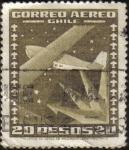 Sellos de America - Chile -  Aeroplano y estrella
