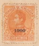 Sellos de America - Venezuela -  Simon Bolibar Ed 1900