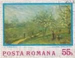 Sellos de Europa - Rumania -  C.Pisarro