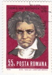 Sellos de Europa - Rumania -  Ludwig Van Beethoven