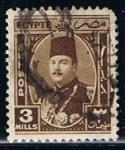 Stamps Egypt -  Scott  244  Rey Farouk