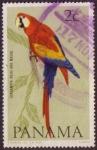 Stamps : America : Panama :  Guacamaya Roja