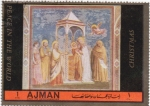 Sellos de Asia - Emiratos Árabes Unidos -  Giotto-(marco marron oscuro)