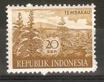 Sellos de Asia - Indonesia -  PLANTACIÒN  DE  TABACO