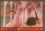 Stamps United Arab Emirates -  beato Angelico (marco marron oscuro)