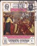 Sellos de Asia - Yemen -  papa  Pablo VI  en Jerusalem