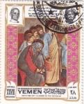 Stamps Yemen -  papa  Pablo VI  en Jerusalem