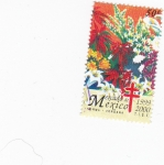 Stamps Mexico -  flores