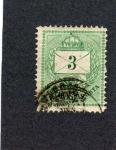 Stamps Hungary -  sello antiguo