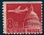 Stamps United States -  Avión y Capitolio