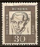 Sellos del Mundo : Europa : Alemania :  Alemanes destacados- Immanuel Kant(filósofo)