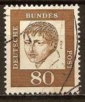 Sellos del Mundo : Europa : Alemania : Alemanes destacados- Heinrich von Kleis(poeta , dramaturgo , novelista y cuento escritor)