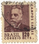 Stamps America - Brazil -  CAMPOS SALLES