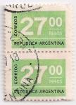 Stamps Argentina -  veintisiete pesos (2)
