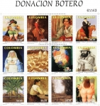 Stamps : America : Colombia :  Donación Botero