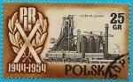 Stamps Poland -  República Popular de Polonia X aniversario - acería Lenin