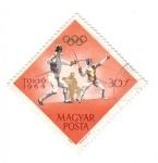 Stamps Hungary -  Olimpíadas 1964