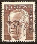 Sellos de Europa - Alemania -  Presidente  Gustav Heinemann.( De 1969 hasta 1974 ).