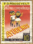 Stamps of the world : Colombia :  Instituto F.D. ROOSEVELT