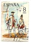 Stamps Spain -  soldados