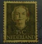 Sellos de Europa - Holanda -  Queen juliana type en face