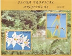 Stamps Colombia -  Flora tropical, Orquideas