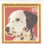 Stamps Equatorial Guinea -  perros-Dalmata