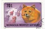 Sellos de Asia - Mongolia -  Perros