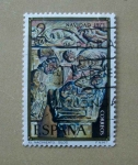 Stamps Spain -  Navidad de 1973. Nacimiento de Silos.