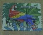Sellos de Oceania - Australia -  Scarlet macaw