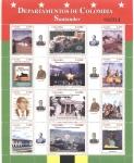 Stamps Colombia -  Departamentos de Colombia, Santander