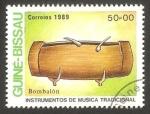 Sellos del Mundo : Africa : Guinea_Bissau : instrumento de música bombalón