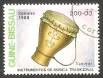 Sellos del Mundo : Africa : Guinea_Bissau : instrumento de música tambor
