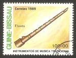 Stamps : Africa : Guinea_Bissau :  instrumento música flauta