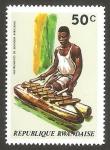Sellos del Mundo : Africa : Rwanda : instrumento musical xilófono