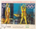 Stamps Yemen -  Munich Olympic City 1972 National Teatre