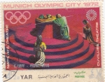 Sellos de Asia - Yemen -  Munich Olympic City 1972 National Teatre