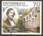 Sellos del Mundo : Europa : Austria : 2802 - Carl Ritter von Ghega, 160 anivº del viaductor Kalte Rinne